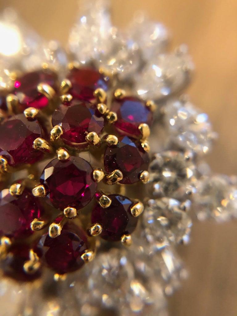Women's Boucheron Ruby and Diamond Earrings For Sale