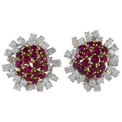 Boucheron Ruby and Diamond Earrings