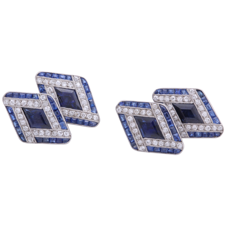 Boucheron Sapphire and Diamond Cufflinks