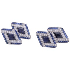 Boucheron Sapphire and Diamond Cufflinks