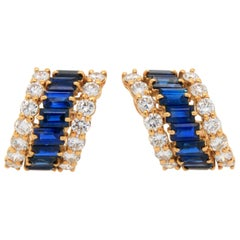 Boucheron Sapphire and Diamond Earrings, France