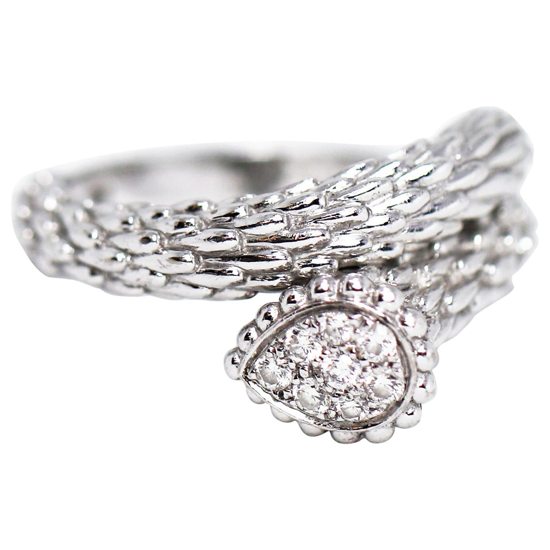 Boucheron Serpent Bohème 18 Carat White Gold Diamond Ring