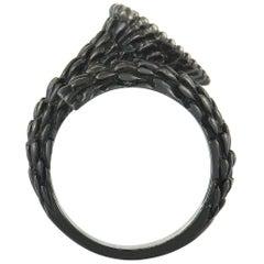 Boucheron Serpent Bohème 18 Karat White Gold Black Rhodium-Plated Ruby Ring