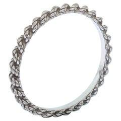 Boucheron Serpent Boheme 18K White Gold Wedding Band Ring Size 50