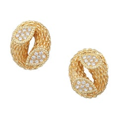 Boucheron Serpent Boheme Diamond Earrings in 18k Gold