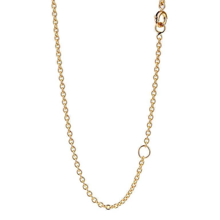 Round Cut Boucheron Serpent Boheme Diamond Gold Necklace For Sale