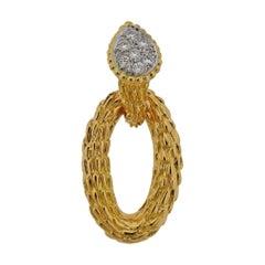 Boucheron Serpent Boheme Diamond Gold Pendant