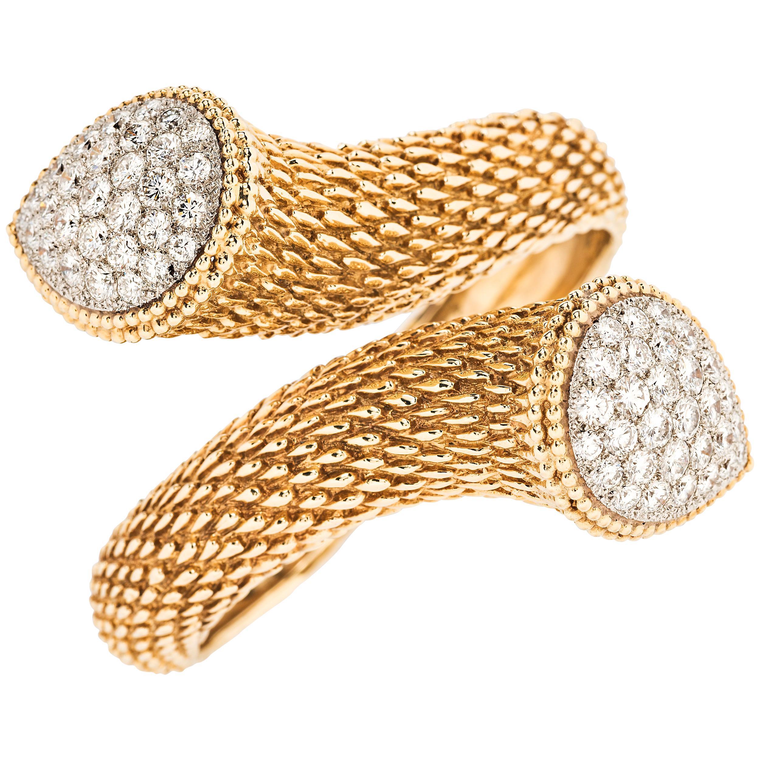 Boucheron Serpent Boheme Gold and Diamond Bracelet