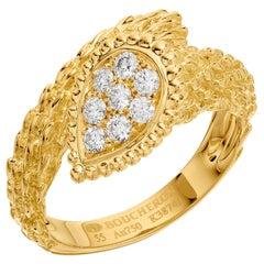Boucheron Serpent Boheme Ring in 18 Karat Yellow Gold with Diamonds