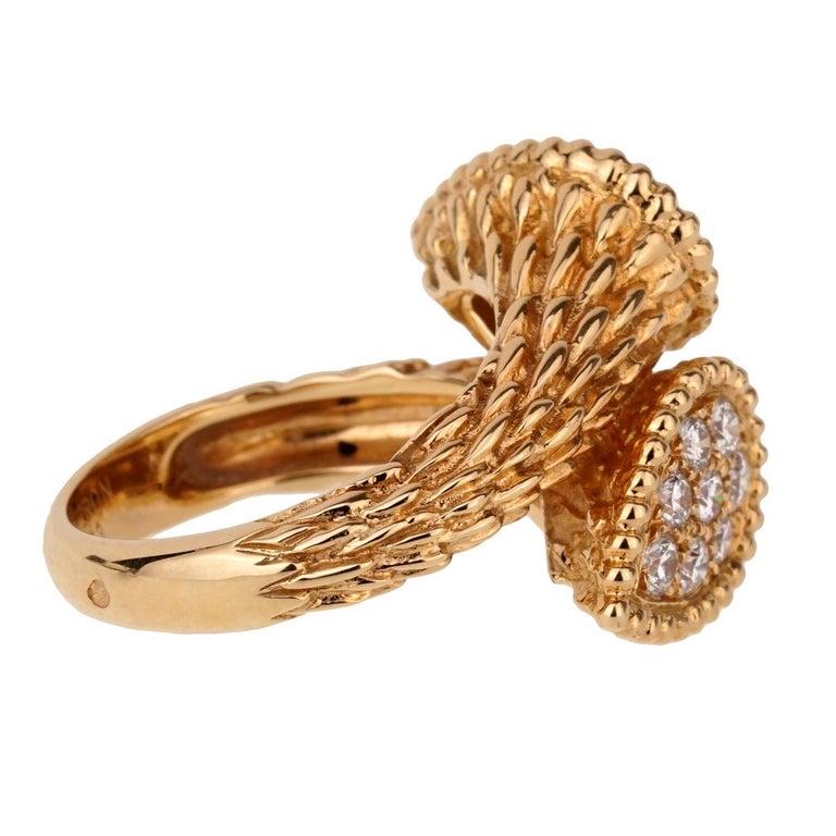 b88de11137902d Round Cut Boucheron Serpent Boheme Toi et Moi Diamond Gold Ring For Sale