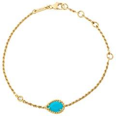 Boucheron Serpent Boheme Turquoise Diamond 18K Yellow Gold Bracelet