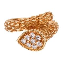 Boucheron Serpent Boheme Yellow Gold Diamond Ring
