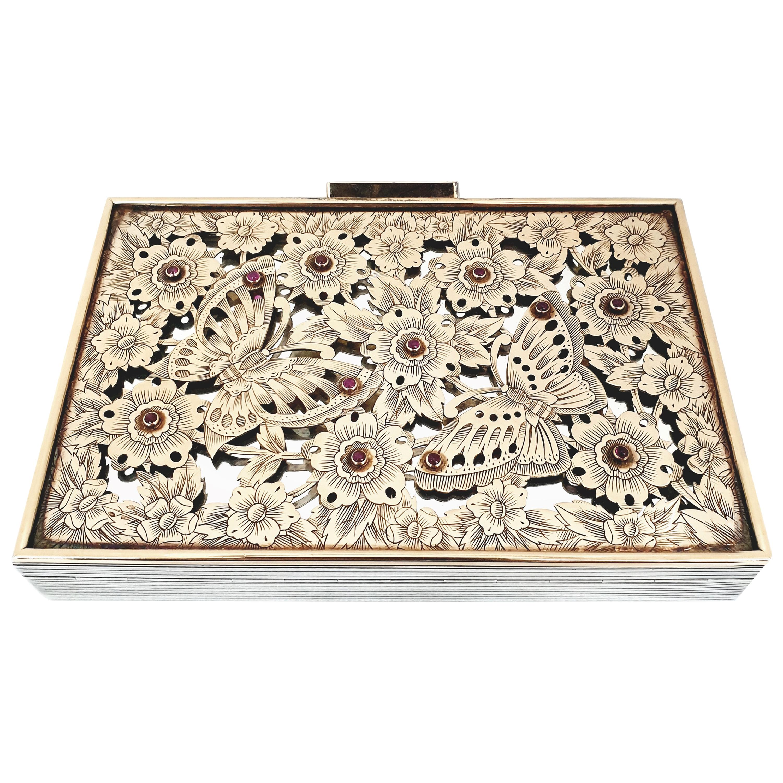 Boucheron Silver Gold Vanity Set Minaudiere