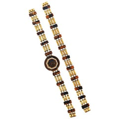 Boucheron Tiger's Eye Watch Bracelet Set