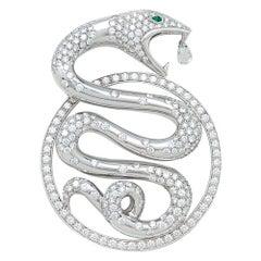 "Boucheron, ""Trouble"" Collection Pendant, Diamonds and Emeralds"
