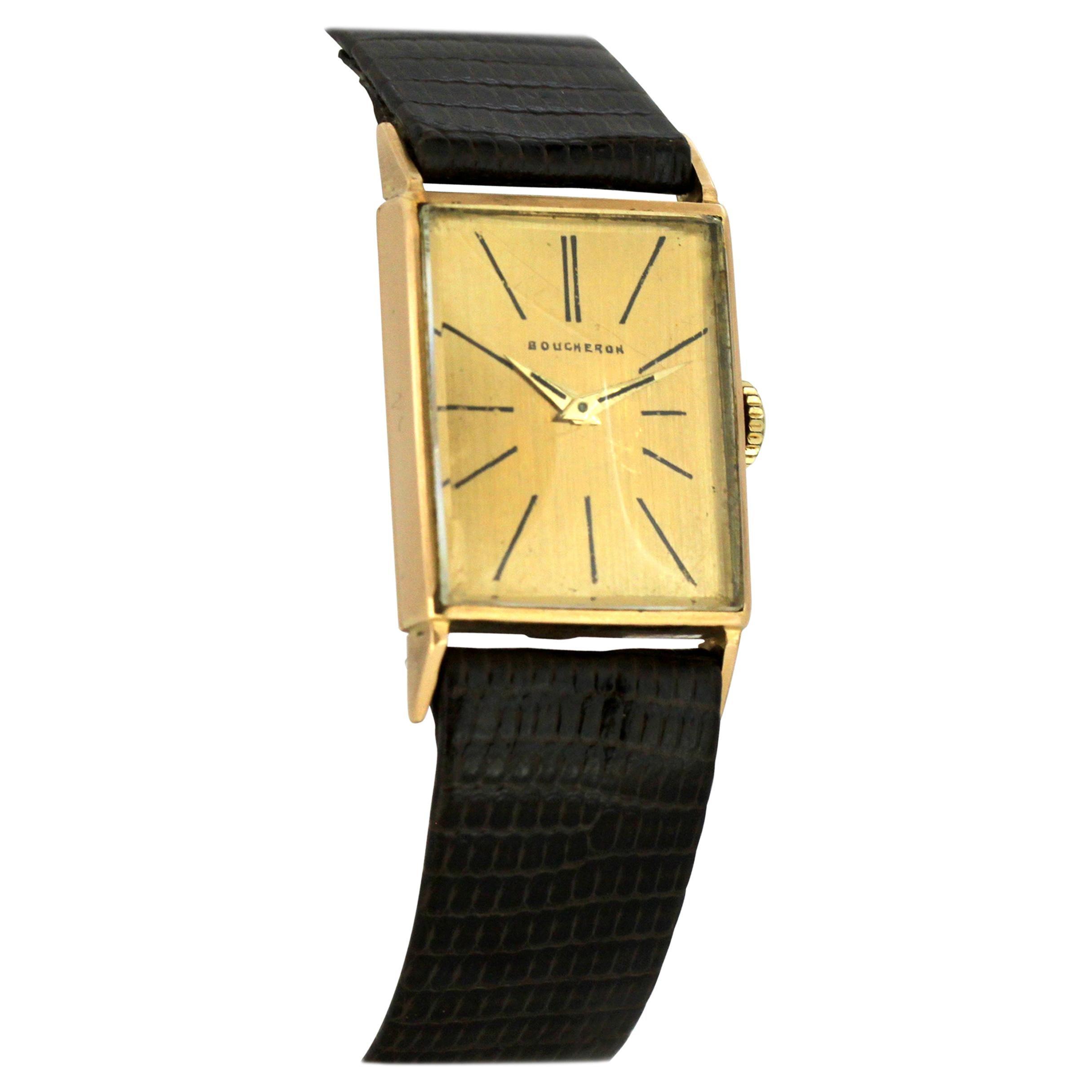 Boucheron Vintage 18 Karat Gold Ladies Watch with Omega Movement, 1960s