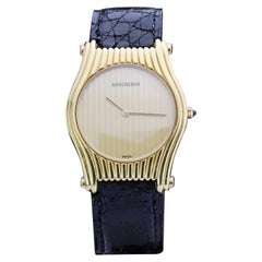 Boucheron Vintage 18 Karat Yellow Ladies Quartz Wristwatch, 1970s