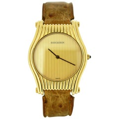 Boucheron Vintage 18 Karat Yellow Ladies Quartz Wristwatch, 1970s