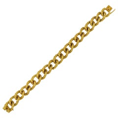 Boucheron Vintage 1960s 18 Karat Yellow Gold French Curb Link Bracelet