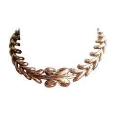 Boucheron Vintage Collar Necklace 18 Karat Gold, Circa 1950