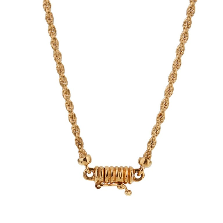 Boucheron Vintage Diamond Gold Necklace In Good Condition For Sale In Feasterville, PA