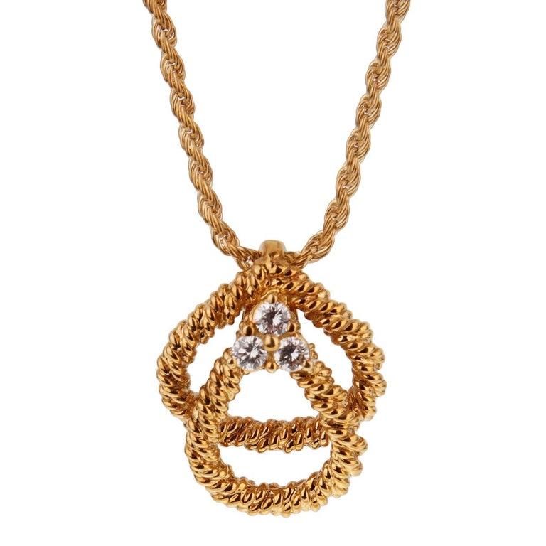 Women's Boucheron Vintage Diamond Gold Necklace For Sale