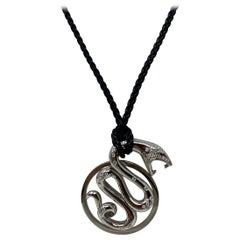 Boucheron White Gold Diamond Dragon Necklace