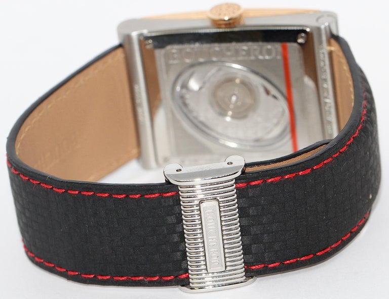 Boucheron XL Automatic Designer Wristwatch, Steel and 18 Karat Rose Gold In Excellent Condition For Sale In Berlin, DE