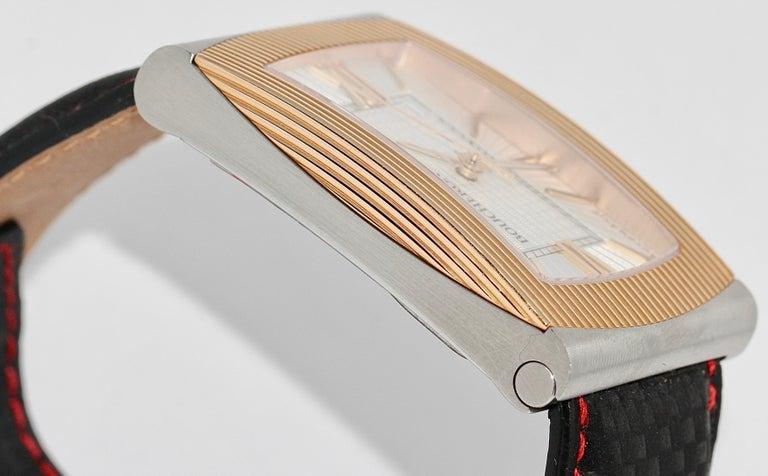 Boucheron XL Automatic Designer Wristwatch, Steel and 18 Karat Rose Gold For Sale 2