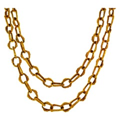 Boucheron Yellow Gold Chain Necklace, 1970s