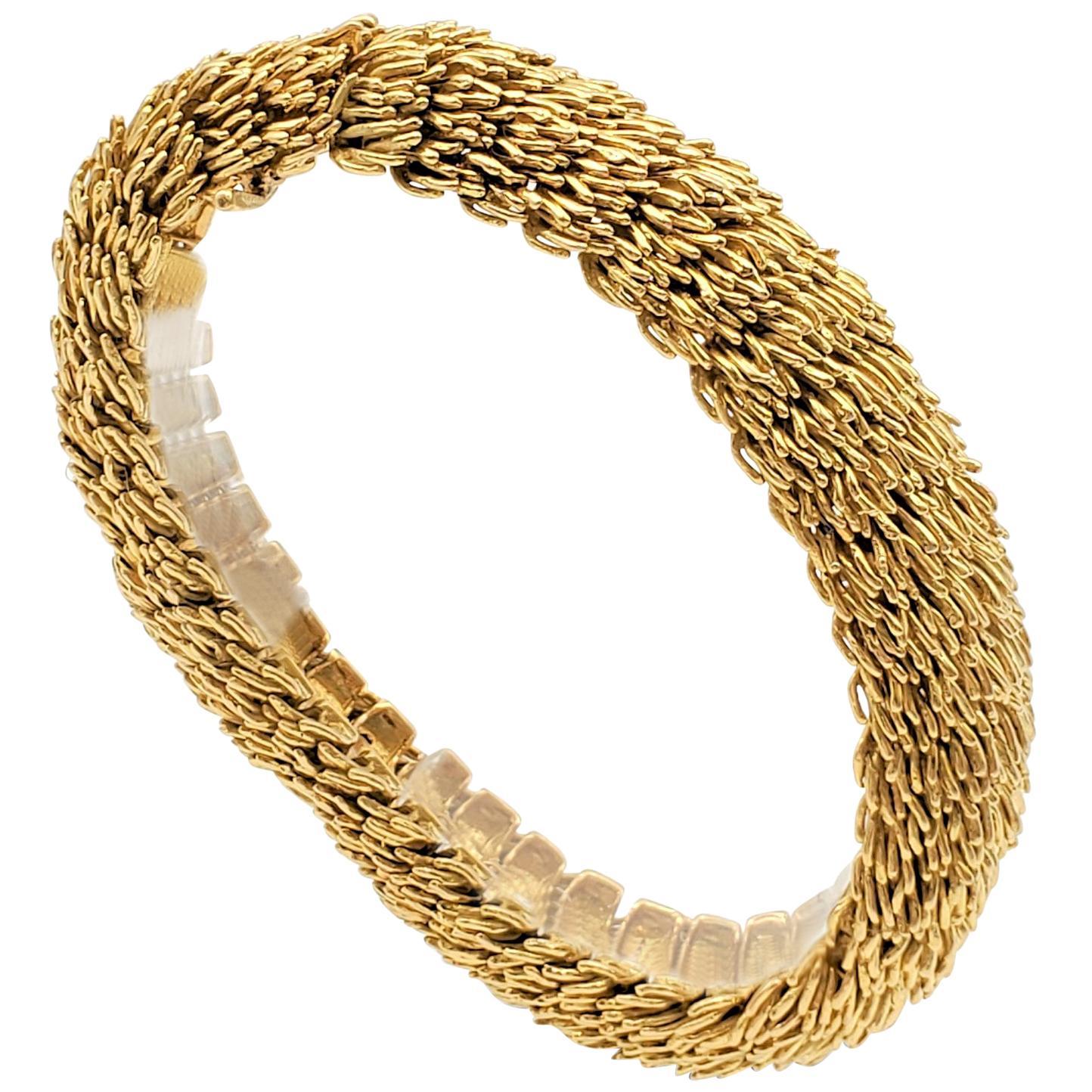 Boucheron Yellow Gold Flexible Link Bracelet