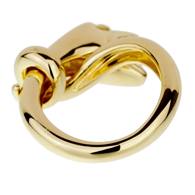 Women's or Men's Boucheron Yellow Gold Snake Ring For Sale