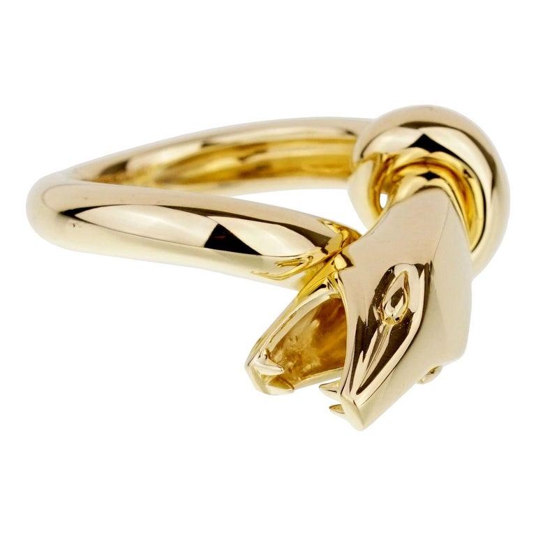 Boucheron Yellow Gold Snake Ring For Sale