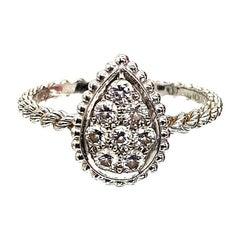 Boucheron's Serpent Bohème Collection 18 Karat White Gold Diamond Ring
