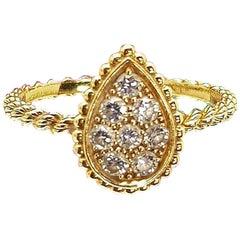 Boucheron's Serpent Bohème Collection 18 Karat Yellow Gold Diamond Ring