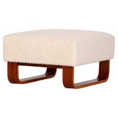 Boucle Bench Stool Footstool, 1960s