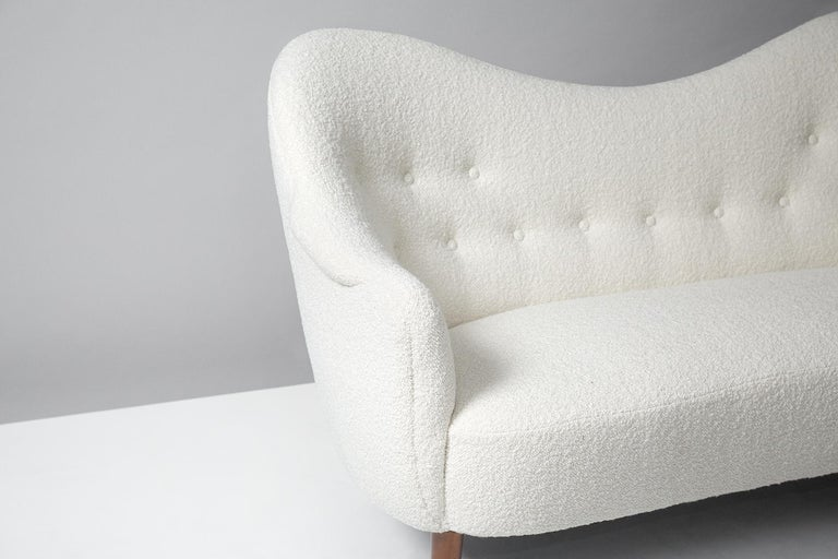 Boucle Sampsel Sofa by Carl Malmsten, 1956 In Excellent Condition For Sale In London, GB