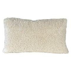 Boucle Shearling Sheepskin Pillow Bone, Australian Made 35*60cm