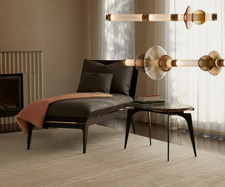 Outstanding Boudoir Chaise Lounge Chair With Black Steel Legs And Brass Hardware Pdpeps Interior Chair Design Pdpepsorg