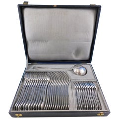 Bougainville by Puiforcat Sterling Silver Flatware Set Service 37 Pcs in Box