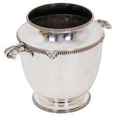 Bouillet Bourdelle, Silver Plated Wine Cooler-Champagne Bucket, 20th Century