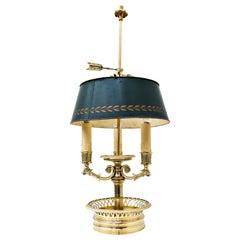 Bouillotte Lamp in Bronze, Directoire Style, 1950s