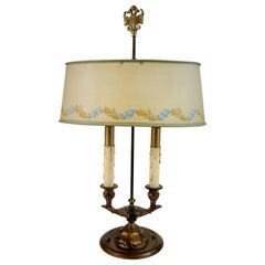 Bouillotte Table Lamp with Decorative Metal Shade