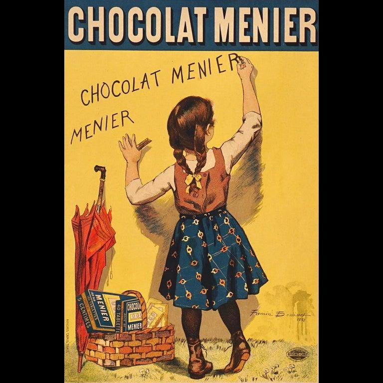 """French Bouisset """"Chocolat Meier"""" Original Art Nouveau Poster, 1895 For Sale"""
