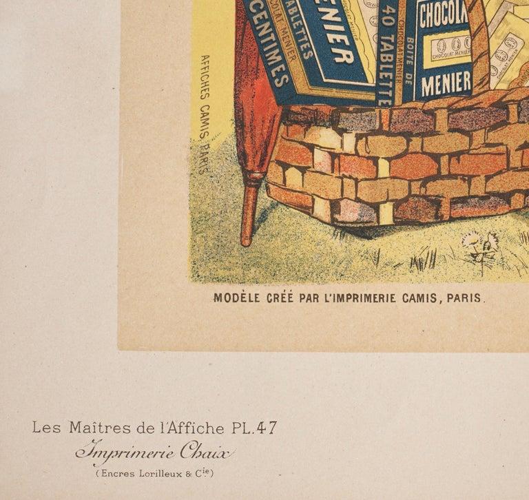 """Hand-Crafted Bouisset """"Chocolat Meier"""" Original Art Nouveau Poster, 1895 For Sale"""