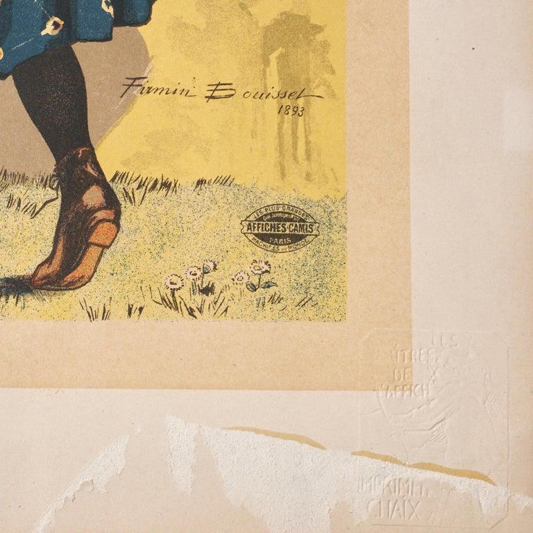 """Bouisset """"Chocolat Meier"""" Original Art Nouveau Poster, 1895 In Fair Condition For Sale In Dallas, TX"""