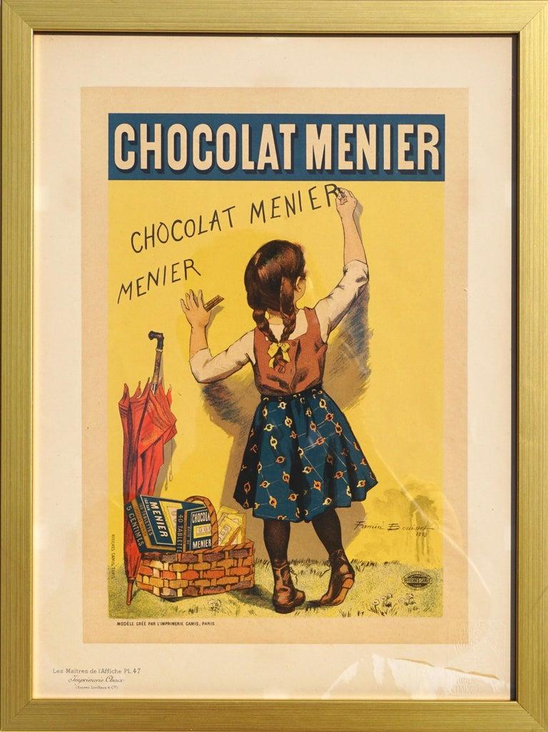 """Late 19th Century Bouisset """"Chocolat Meier"""" Original Art Nouveau Poster, 1895 For Sale"""