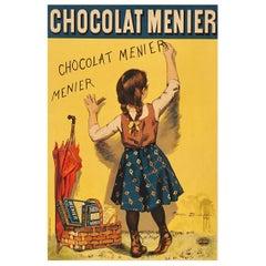 """Bouisset """"Chocolat Meier"""" Original Art Nouveau Poster, 1895"""