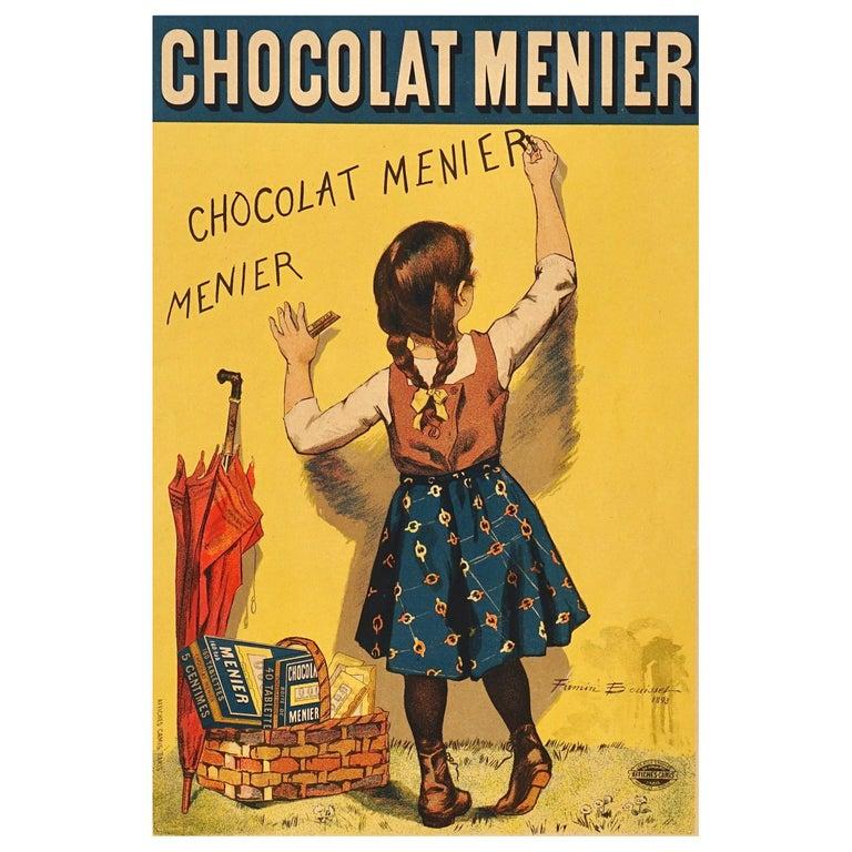 """Bouisset """"Chocolat Meier"""" Original Art Nouveau Poster, 1895 For Sale"""