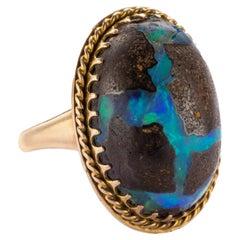 Boulder Opal Ring, Circa 1940s